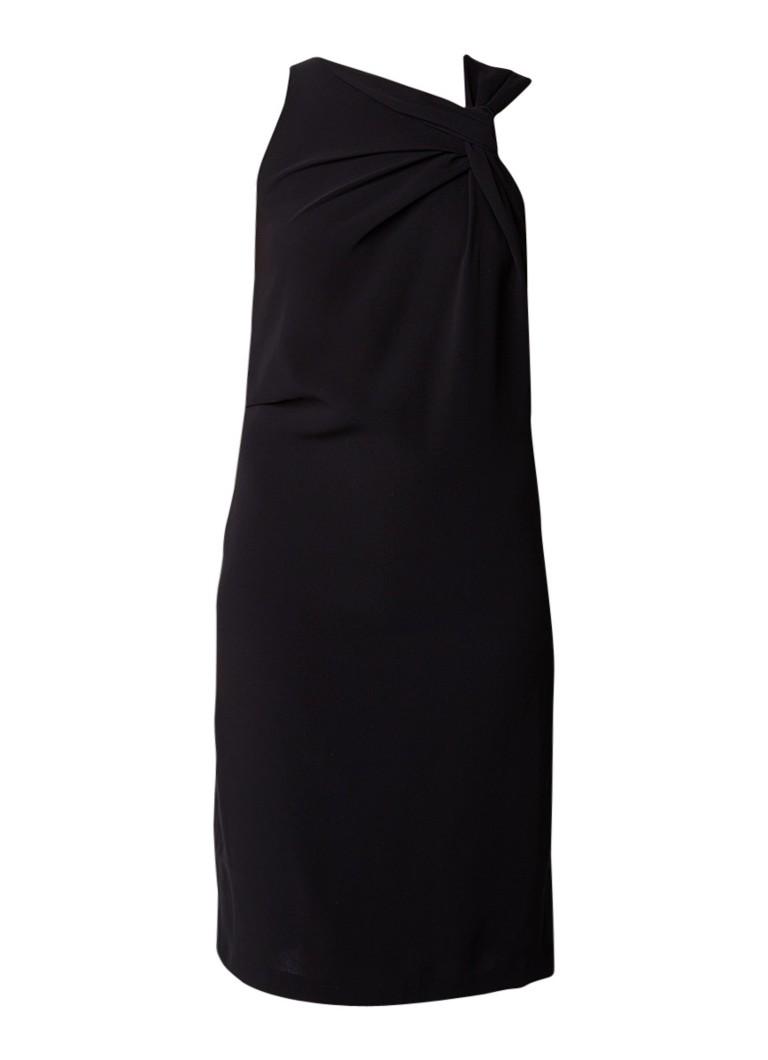 Reiss Aliya midi-jurk met knoopdetail zwart