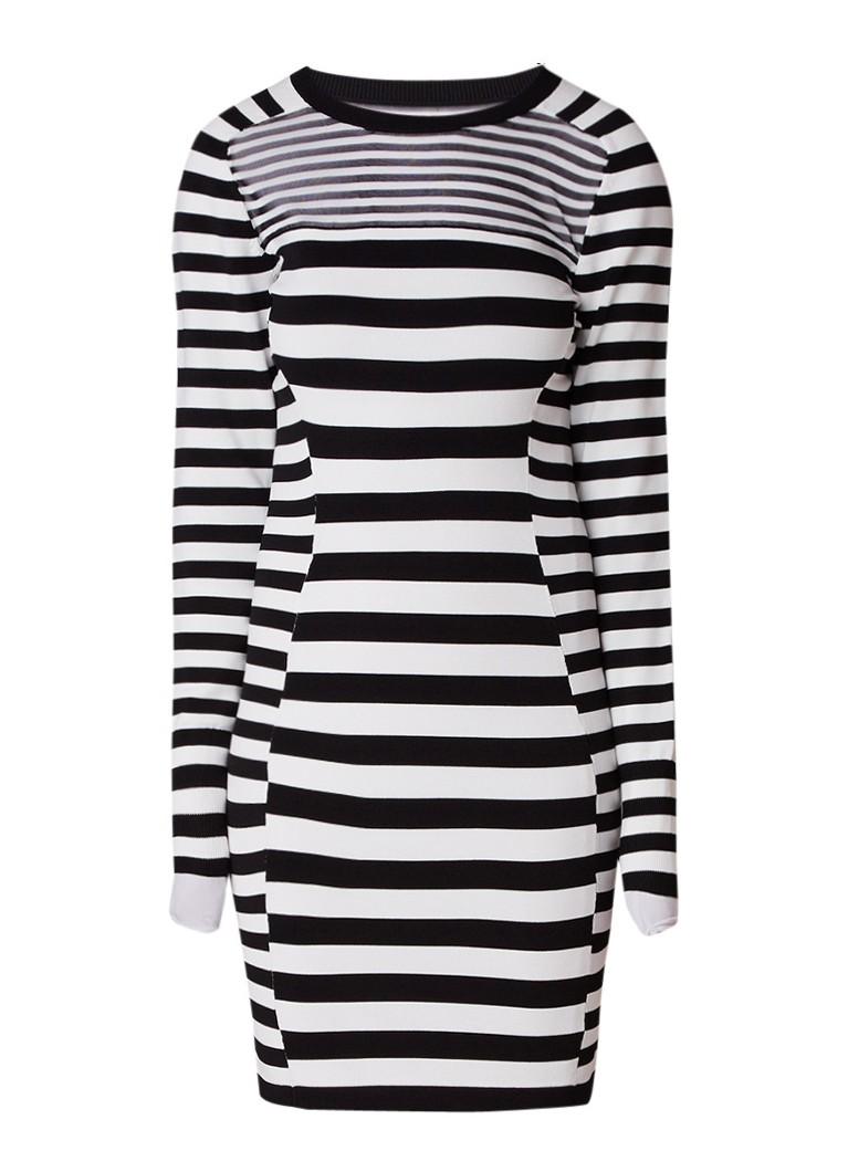 Reiss Jolie jurk van jersey met streepdessin zwart