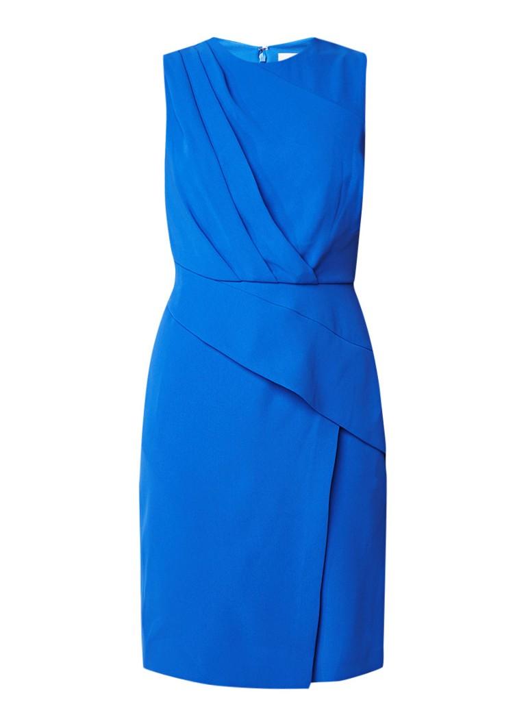 Reiss Josephine mouwloze midi-jurk met drapering royalblauw