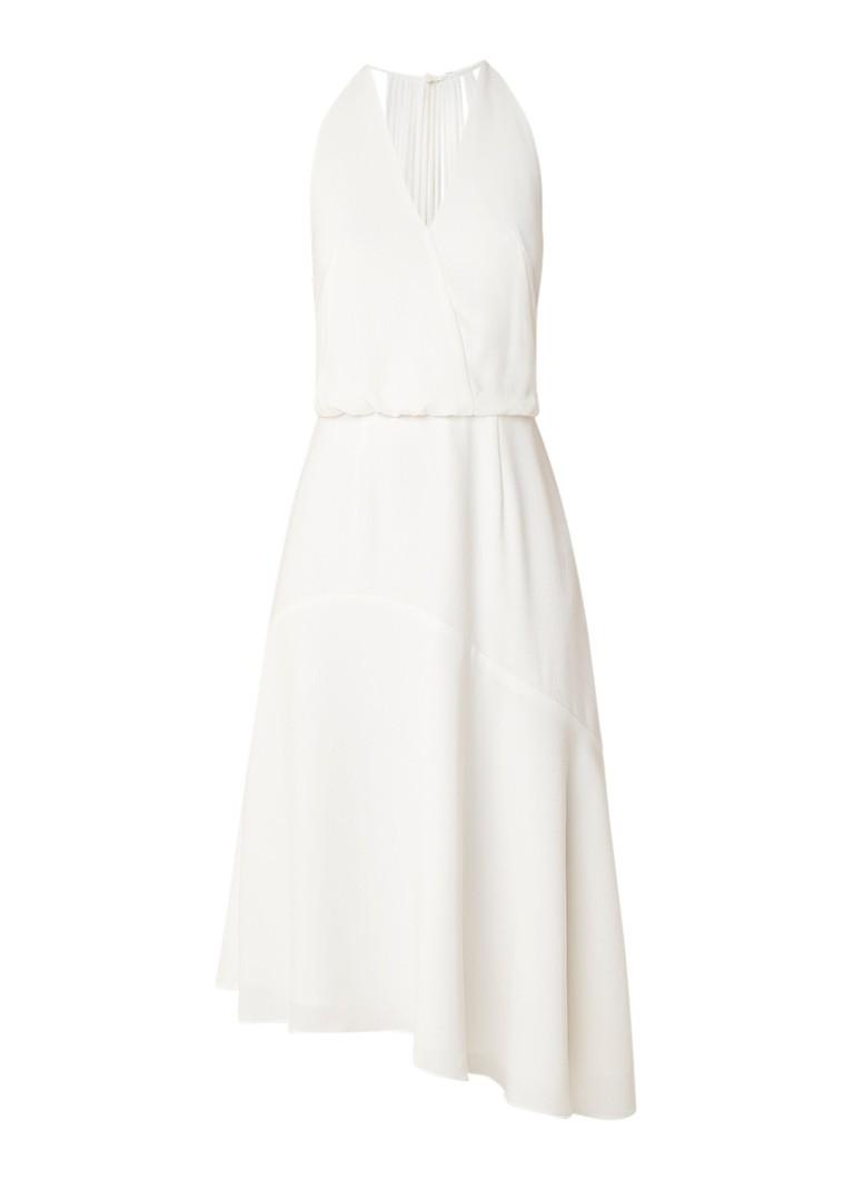 Reiss Talin midi-jurk met bandjes op achterzijde wit