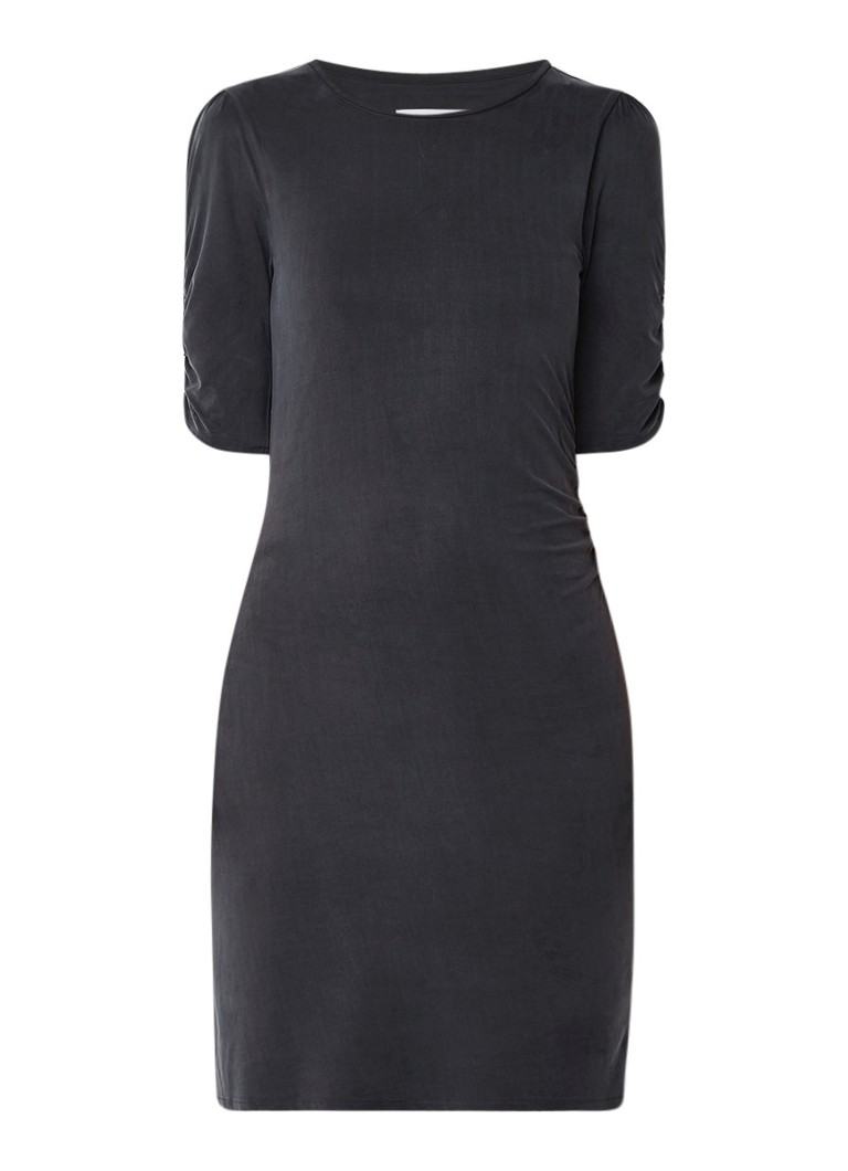 Reiss Natasha jurk vancupro met halflange mouw antraciet