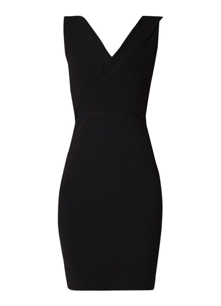 Reiss Kiera mouwloze midi-jurk van stretchjersey zwart