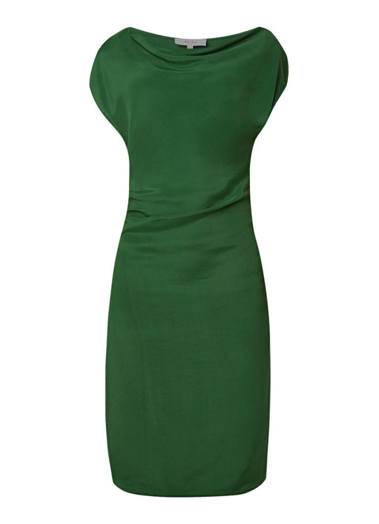 Reiss Lore midi-jurk met watervalhals groen