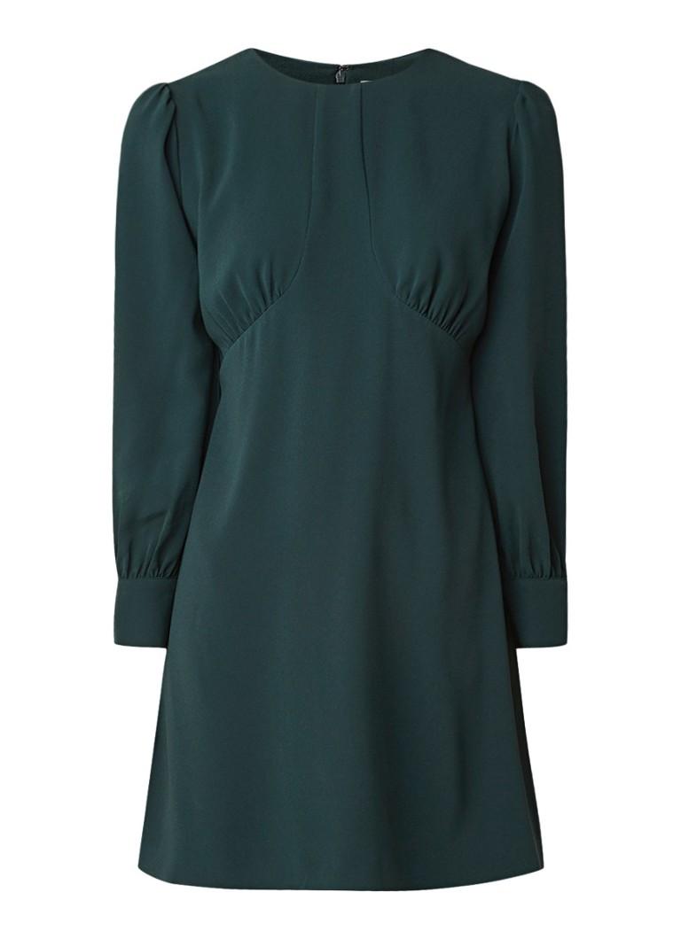 Reiss Analise mini-jurk van crêpe met siernaden donkergroen