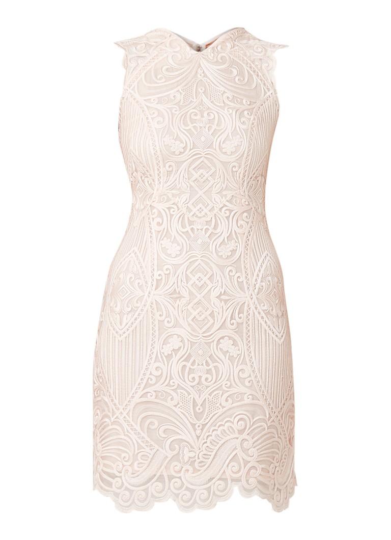 Reiss Roxanda mini-jurk met tapework ivoor