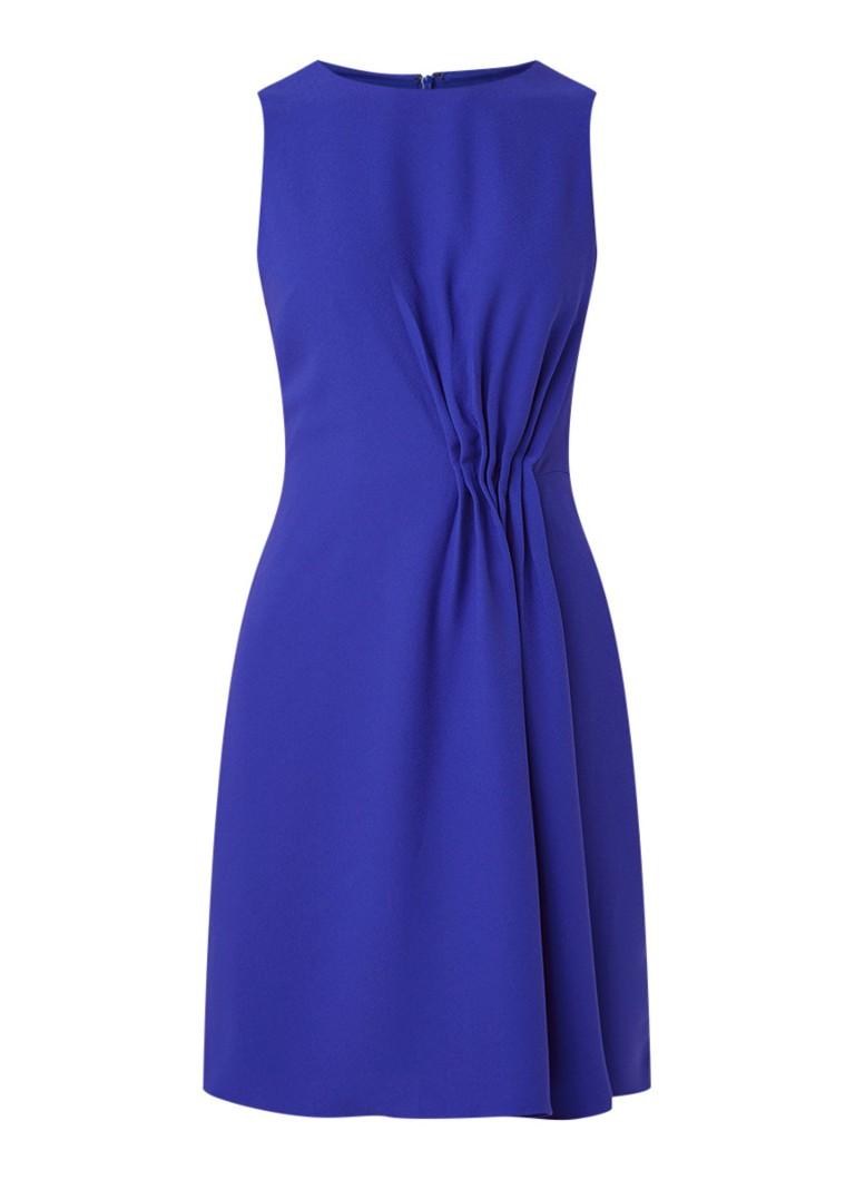 Reiss Nadia mouwloze midi-jurk met geplooid detail kobaltblauw
