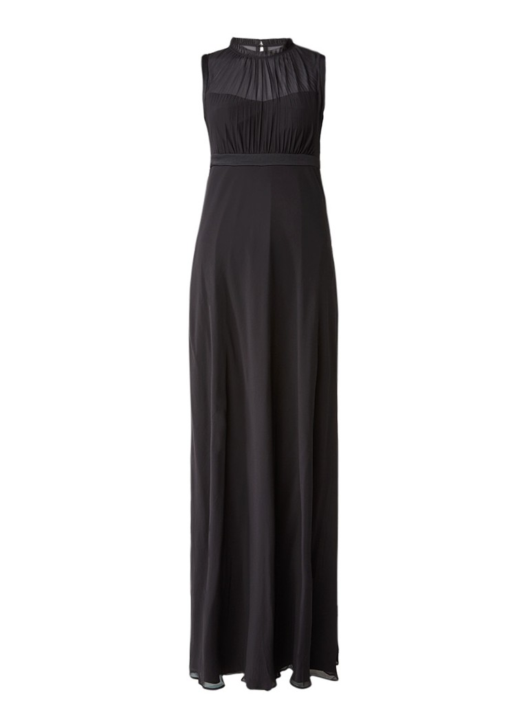 Ted Baker Byanna maxi-jurk met plissé zwart