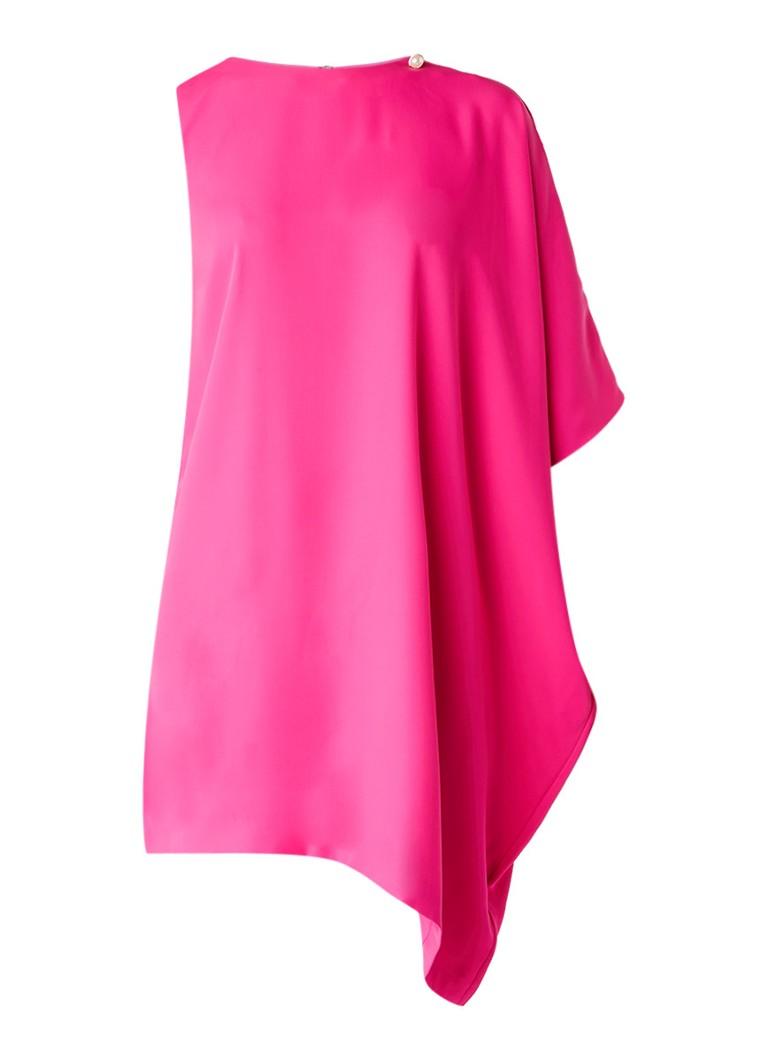 Ted Baker Aubreey asymmetrische jurk met metaal decoratie fuchsia