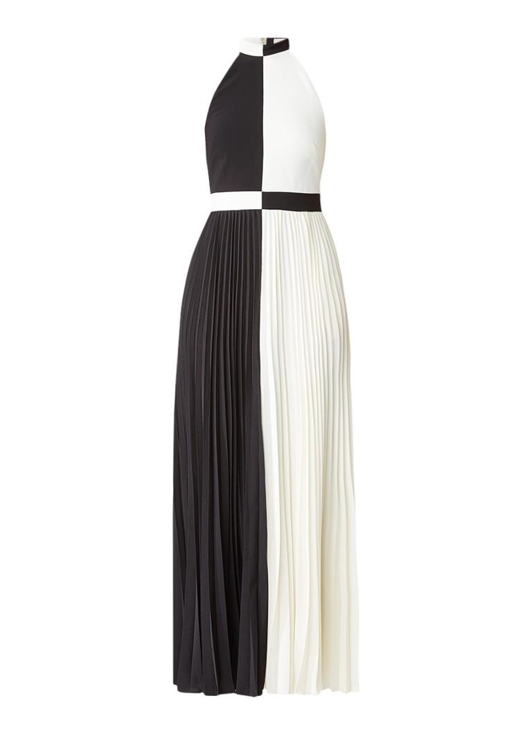 Ted Baker Lixia maxi-jurk met colour block en plissé zwart