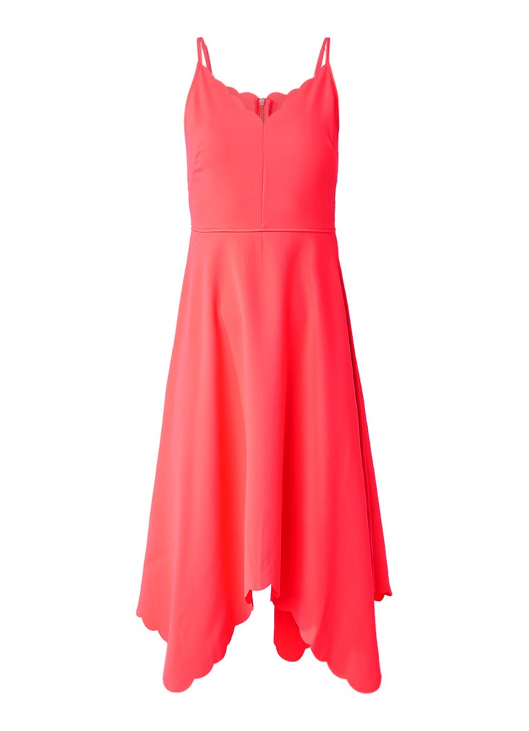 Ted Baker Simbah A-lijn jurk met geschulpte afwerking neonoranje