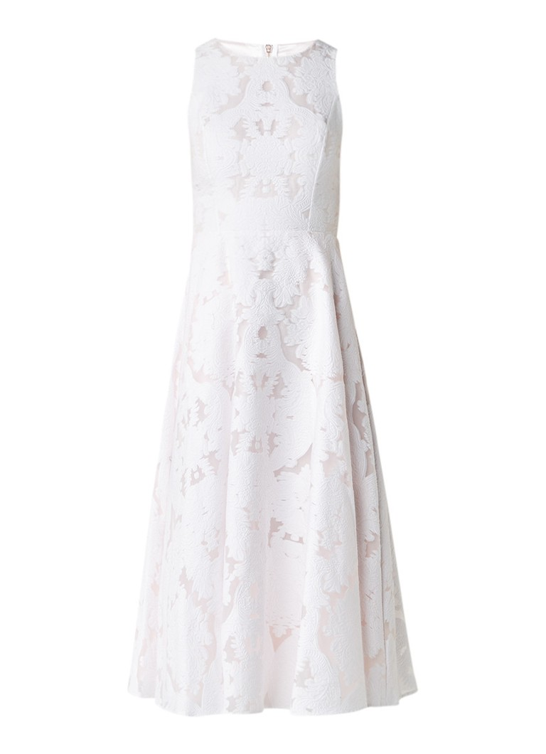 Ted Baker Roshi A-lijn jurk met burn-out bloemendessin lichtroze
