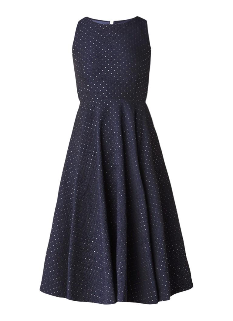 Ted Baker Loaness jacquard midi-jurk met metallic stippendessin