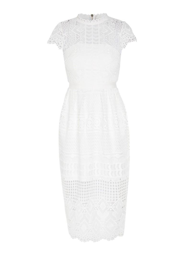 Ted Baker Emelia midi-jurk van kant wit