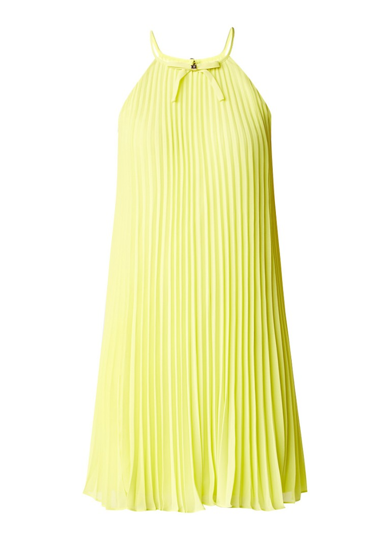 Ted Baker Emelay A-lijn jurk met plissé geel