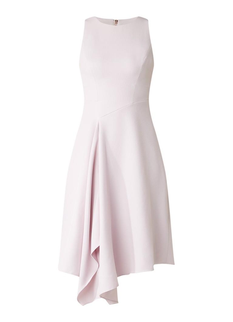 Ted Baker Arola asymmetrische A-lijn jurk met ingeweven structuur lichtpaars
