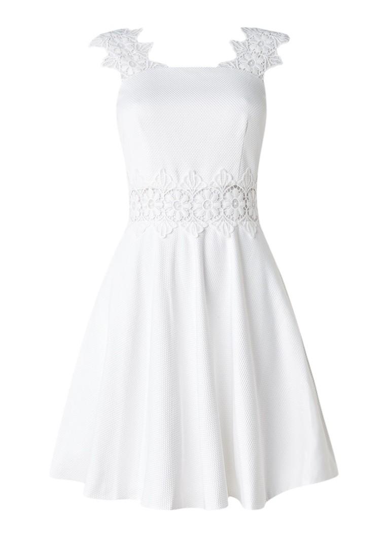 Ted Baker Monaa A-lijn jurk met structuur en inzet van kant wit