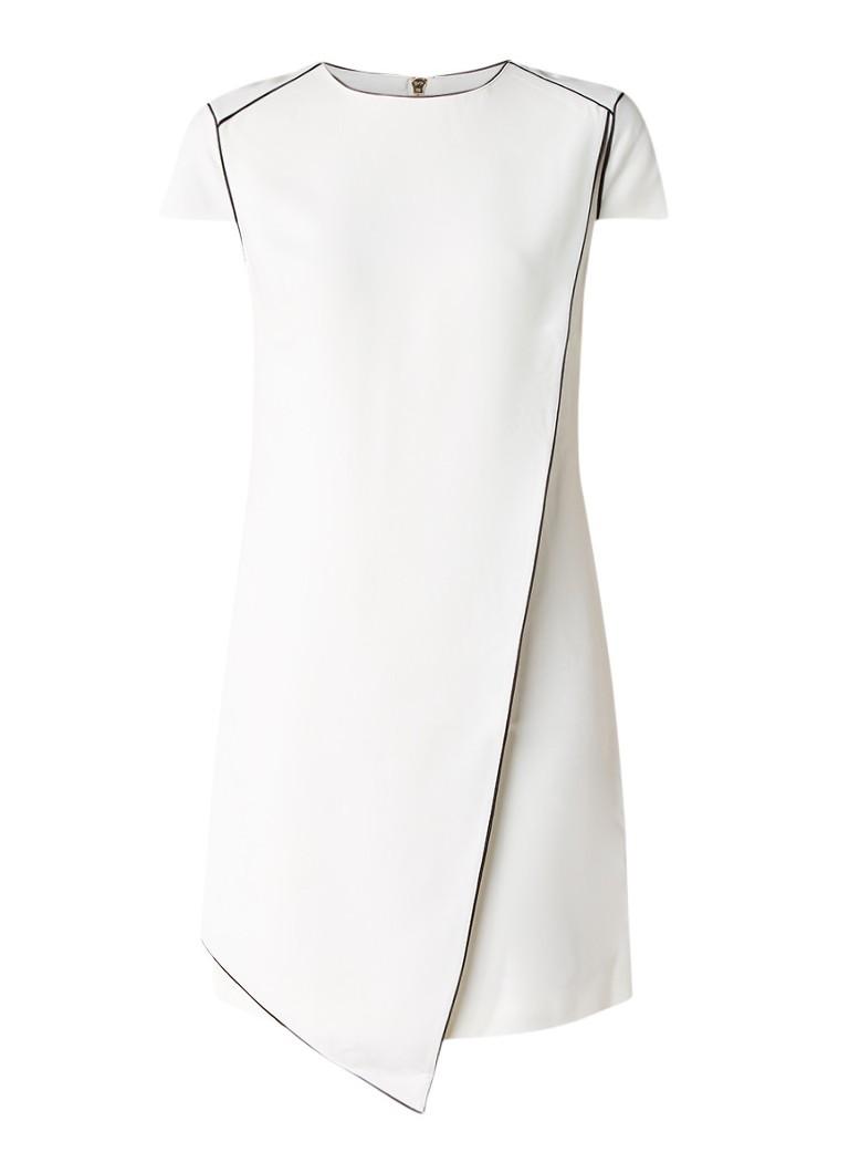 Ted Baker Artiro jurk met overslag en contrasterende bies creme