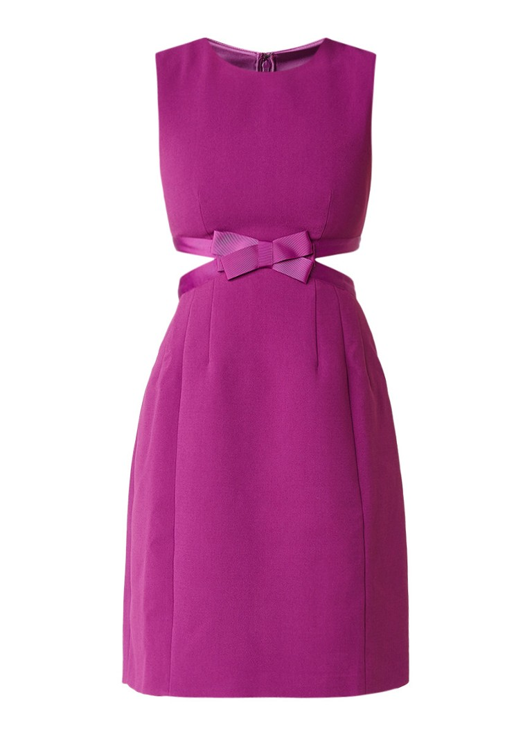 Ted Baker Jaycee jurk met cut-out en strik paars