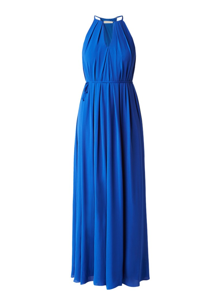 Ted Baker Ariele maxi A-lijn jurk met strikceintuur kobaltblauw