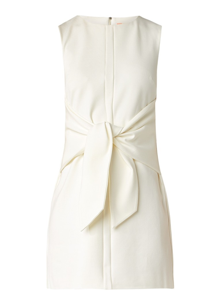 Ted Baker Papron mouwloze mini-jurk met strikdetail ivoor