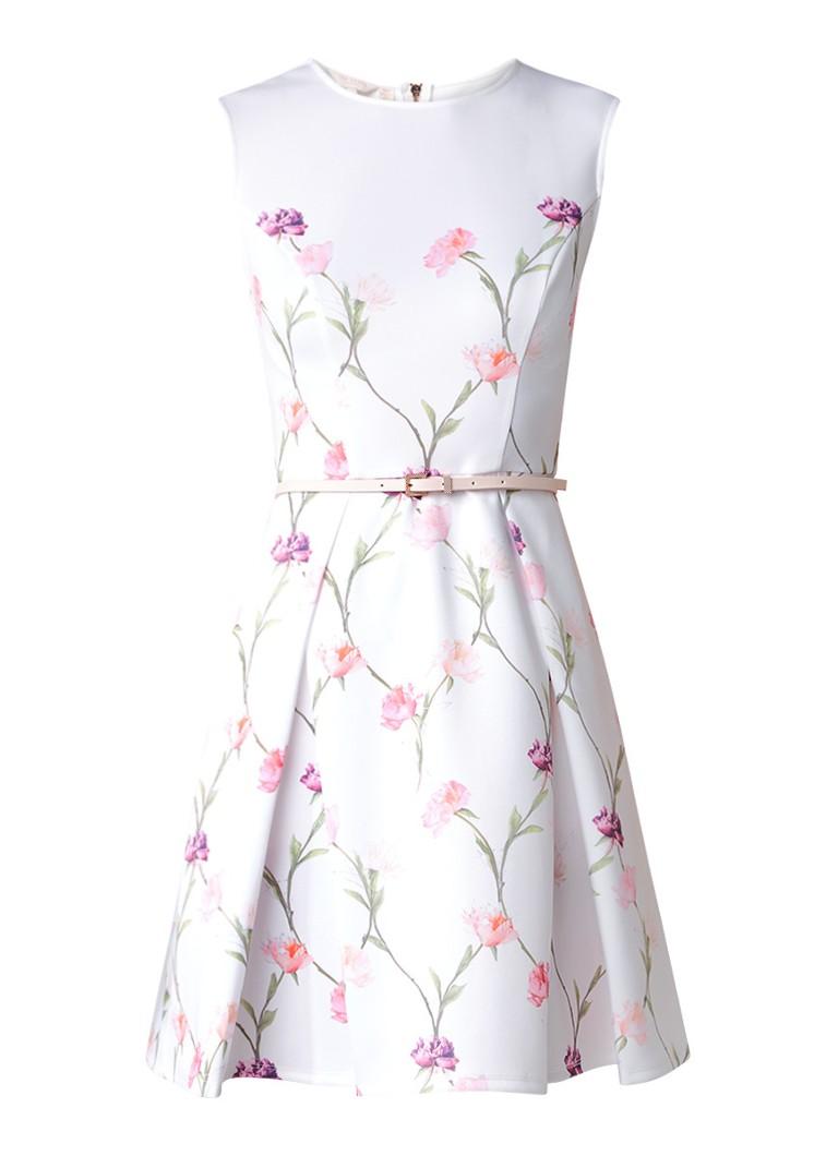 Ted Baker Ahlanna A-lijn jurk met zakken wit