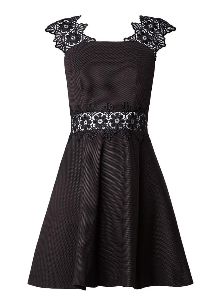 Ted Baker Monaa A-lijn jurk met kant zwart