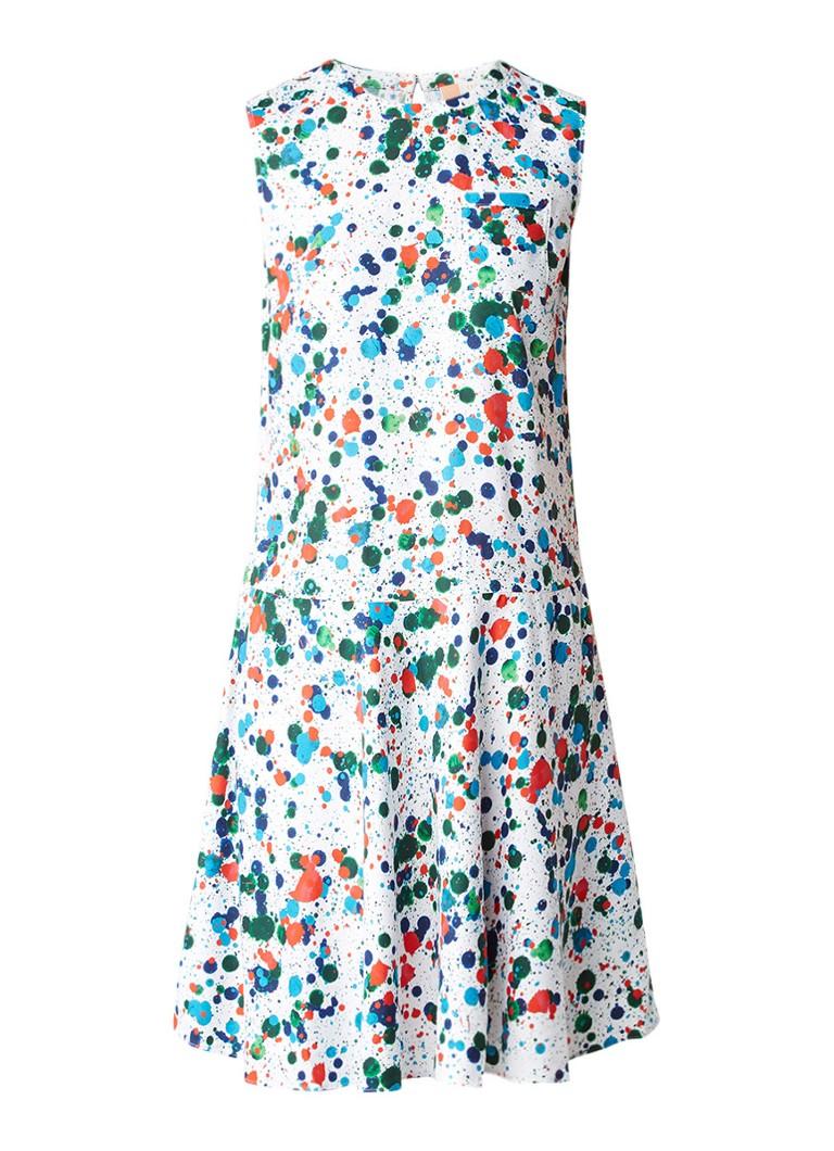 Ted Baker Krystin mouwloze A-lijn jurk met verfspetters multicolor