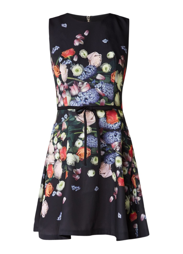 Ted Baker Izobela A-lijn jurk met bloemenprint zwart