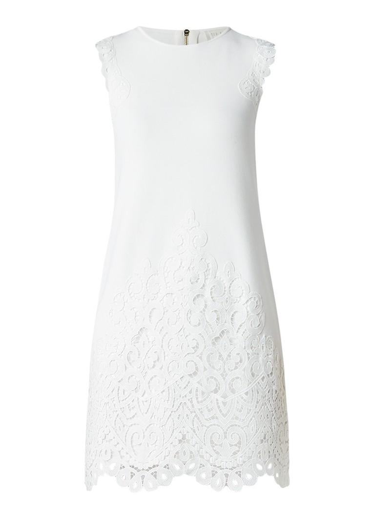 Ted Baker Luccia midi-jurk met broderie gebroken wit