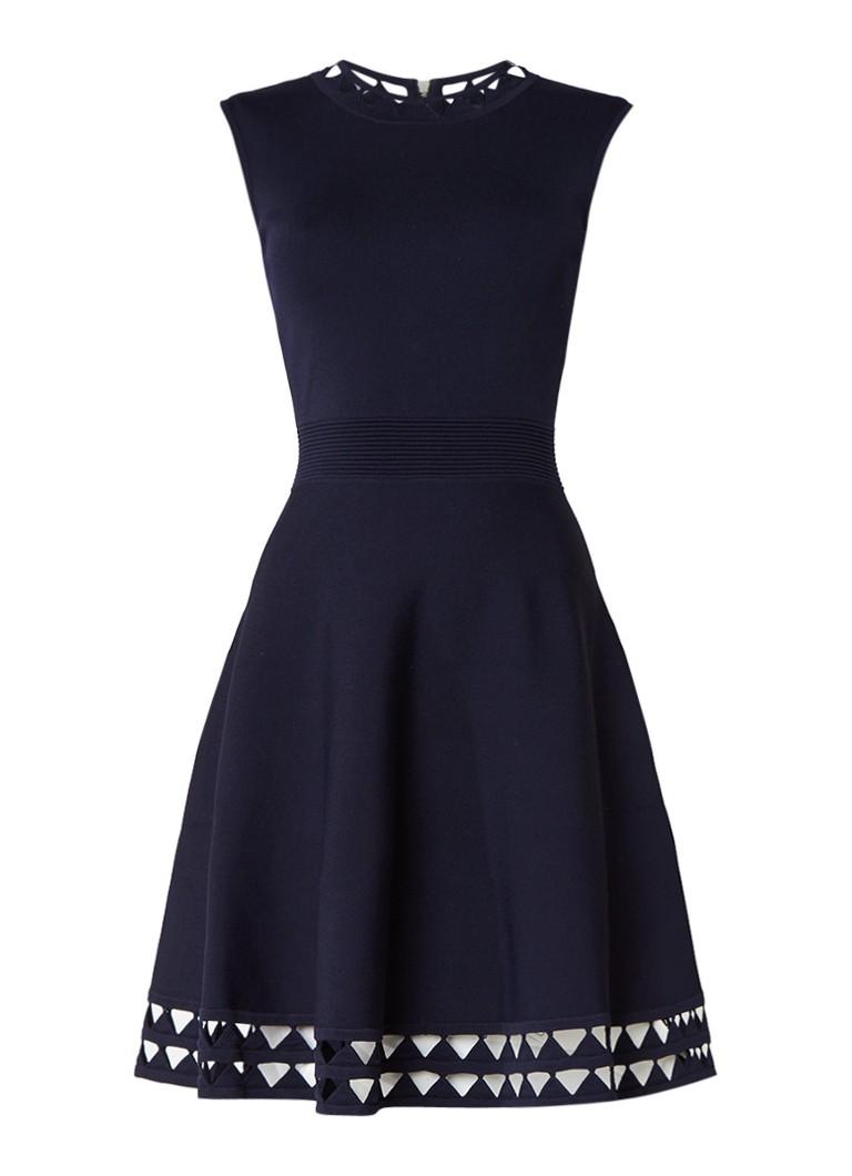 Ted Baker Kathryn A-lijn jurk met cut-out detail donkerblauw