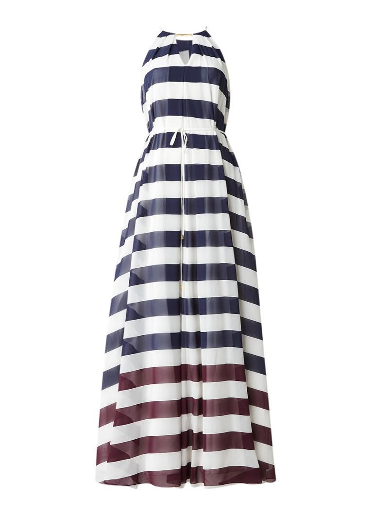 Ted Baker Aloes maxi-jurk met streepdessin en keyhole donkerblauw