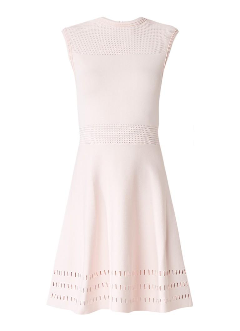 Ted Baker Aurbray A-lijn jurk met opengewerkt patroon lichtroze