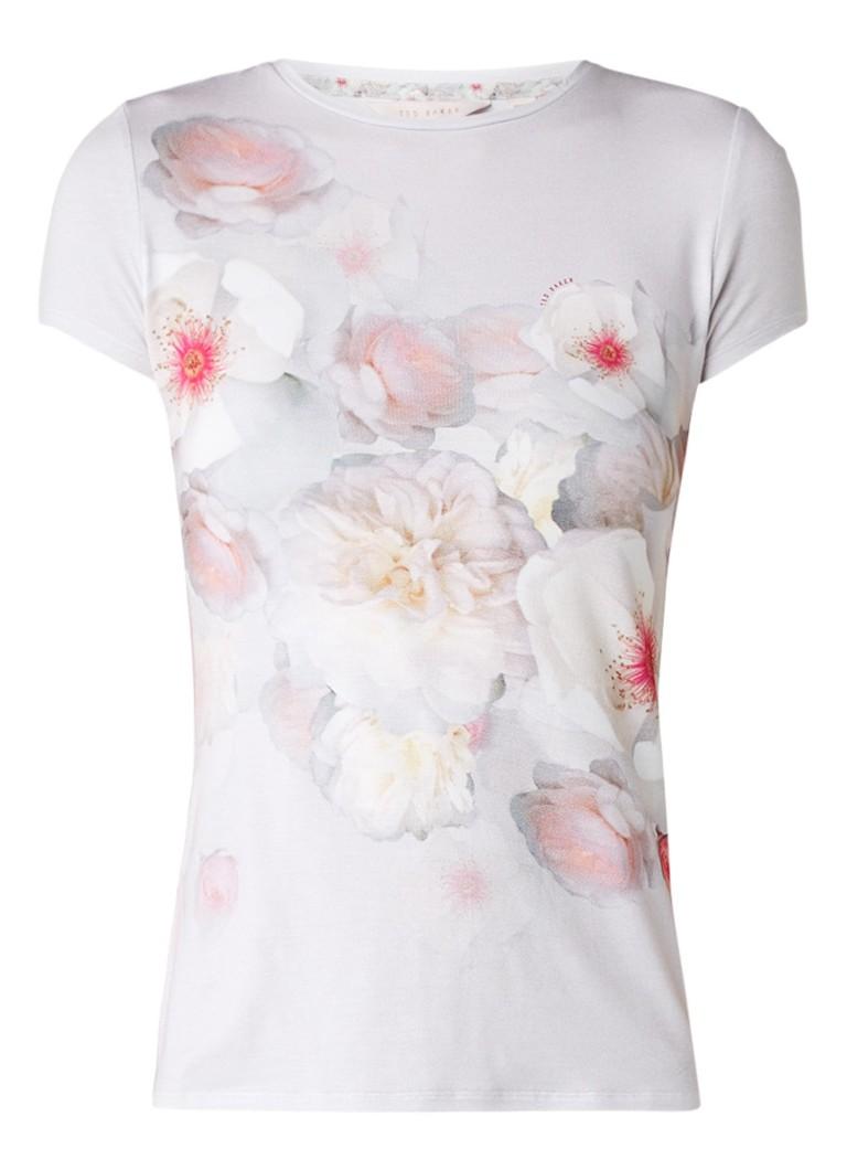 Tops Ted Baker Tamraa T shirt met bloemenprint Lichtgrijs