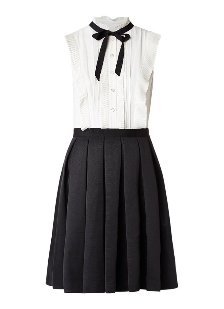 Ted Baker Kimika A-lijn jurk met plissé-detail zwart