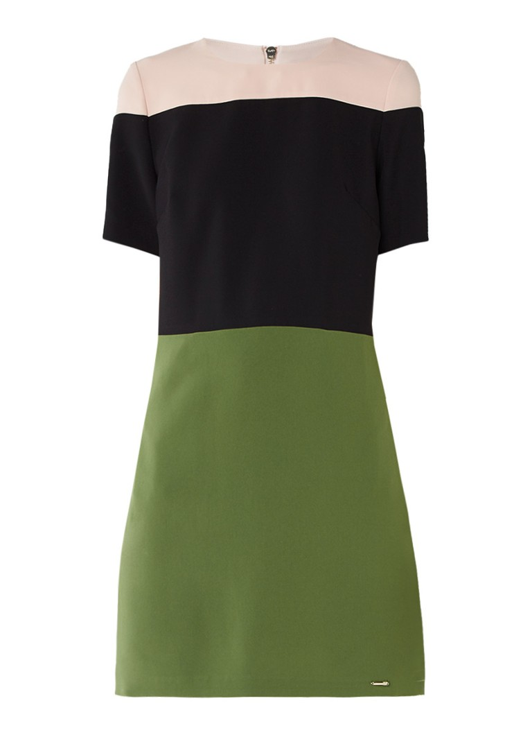 Ted Baker Lantan tuniekjurk met colour blocking groen