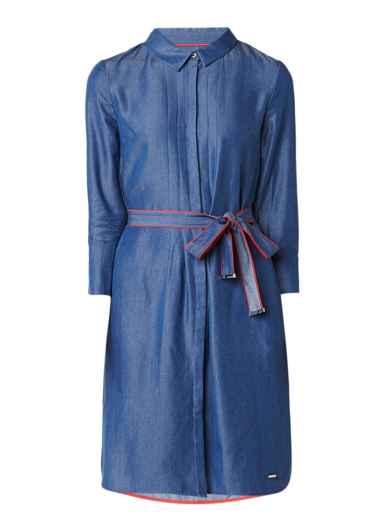 Ted Baker Ivaa chambray blousejurk met strikceintuur indigo