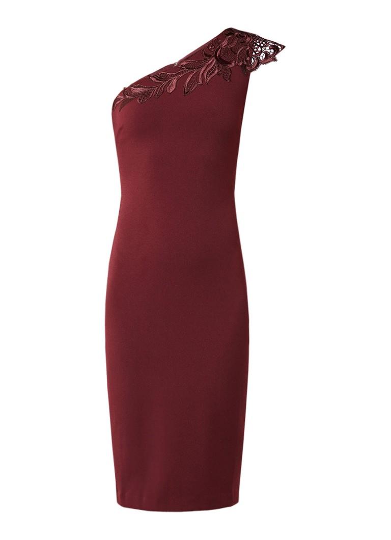 Ted Baker Jalis one shoulder jurk met details van kant