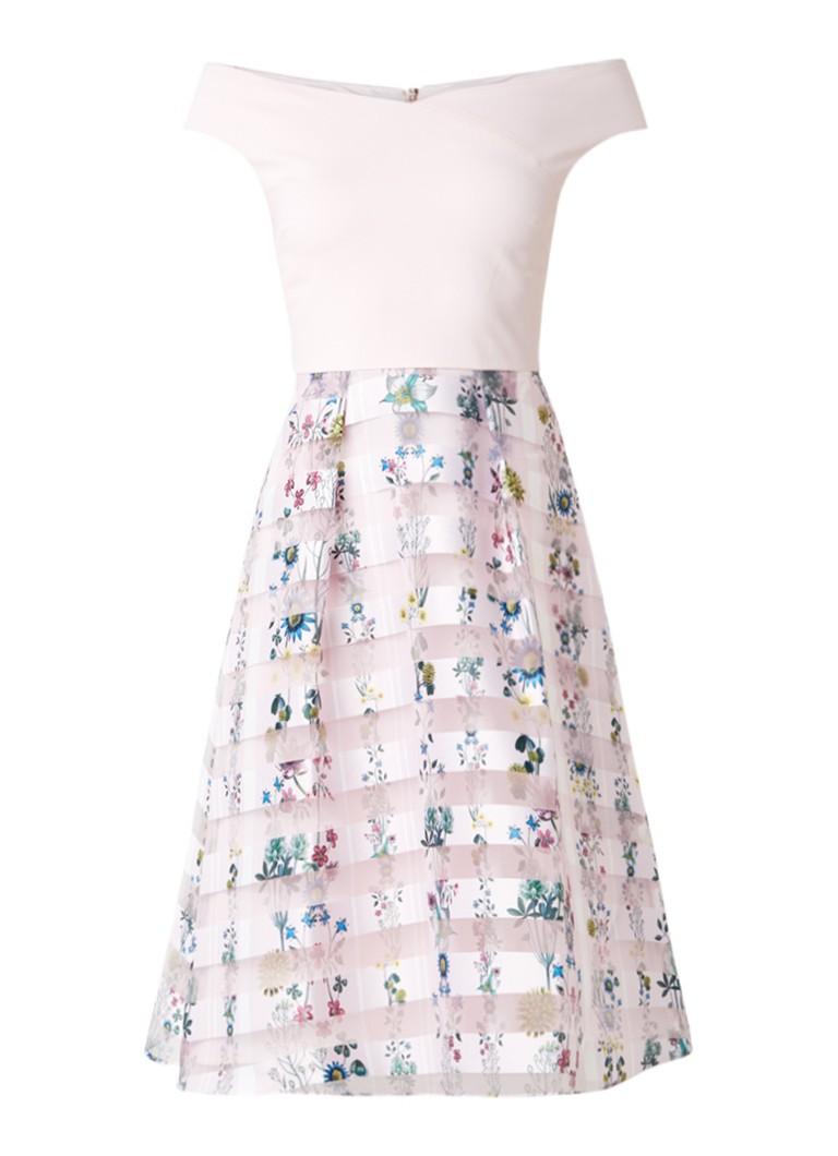 Ted Baker Lulou A-lijn jurk met steekzakken en transparante overlay