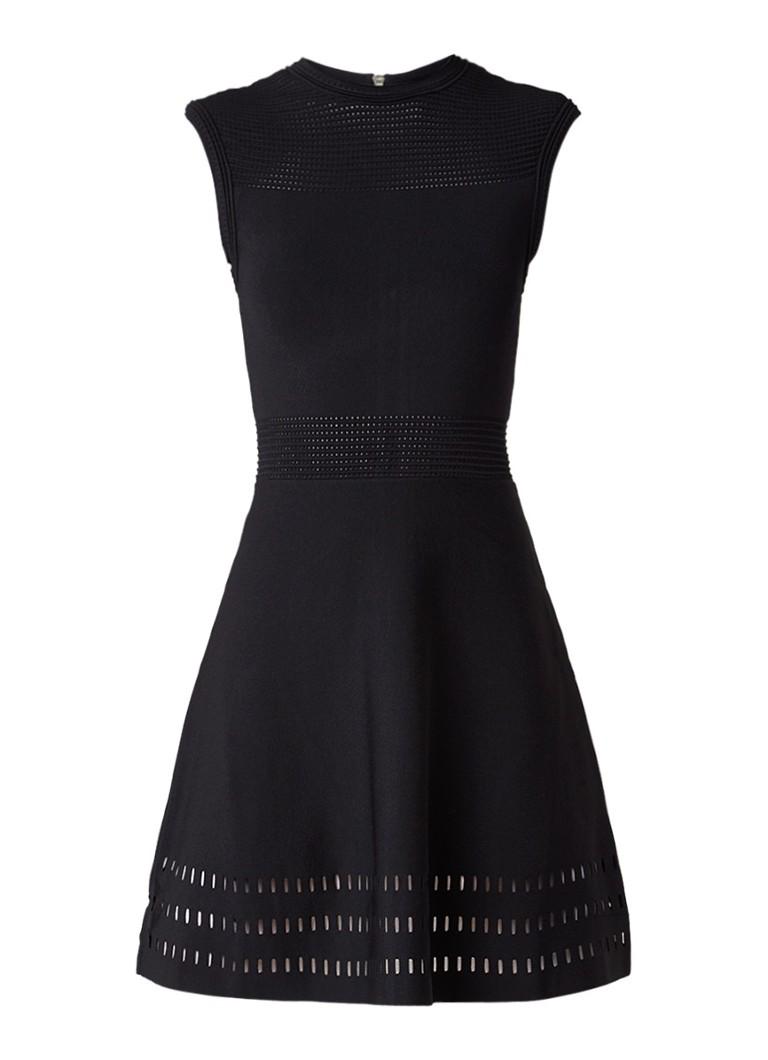 Ted Baker Aurbray ribgebreide jurk met cut-out details zwart