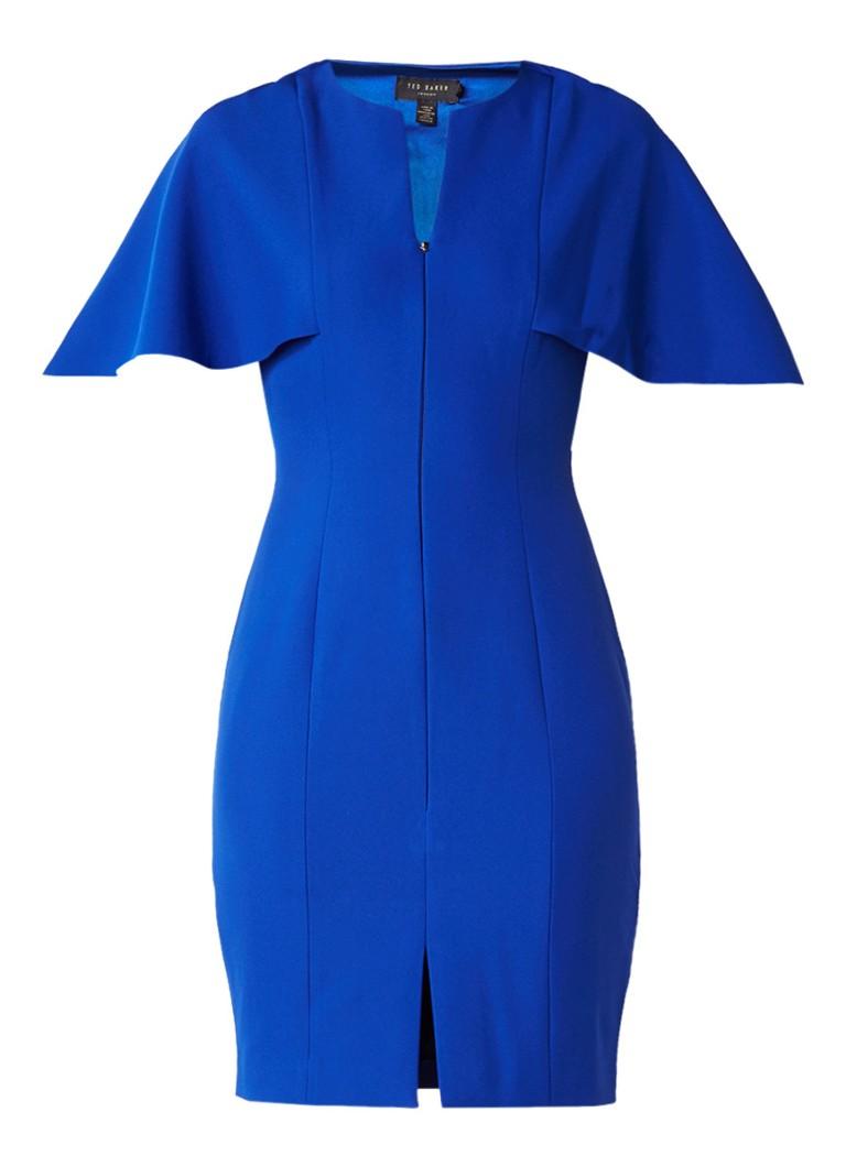 Ted Baker Porisa bodycon jurk met geïntegreerde cape kobaltblauw
