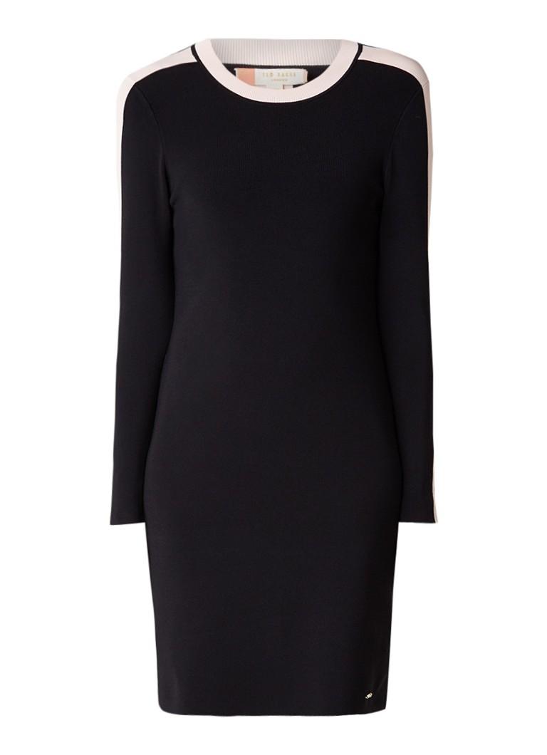 Ted Baker Palit gebreide midi-jurk met stretch zwart