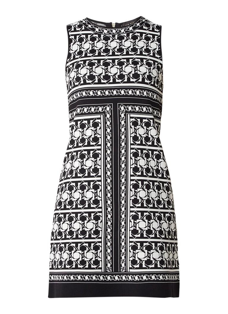 Ted Baker Jammiea mini-jurk met jacquarddessin zwart
