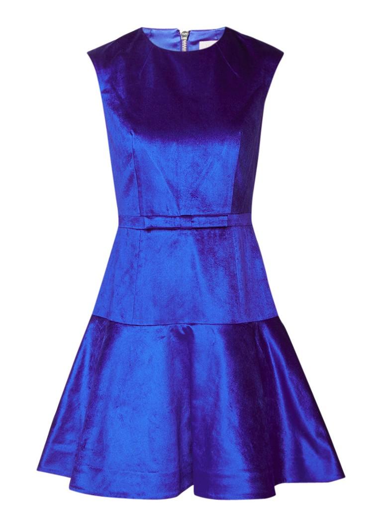 Ted Baker Maryann A-lijn jurk met verlaagde taille royalblauw