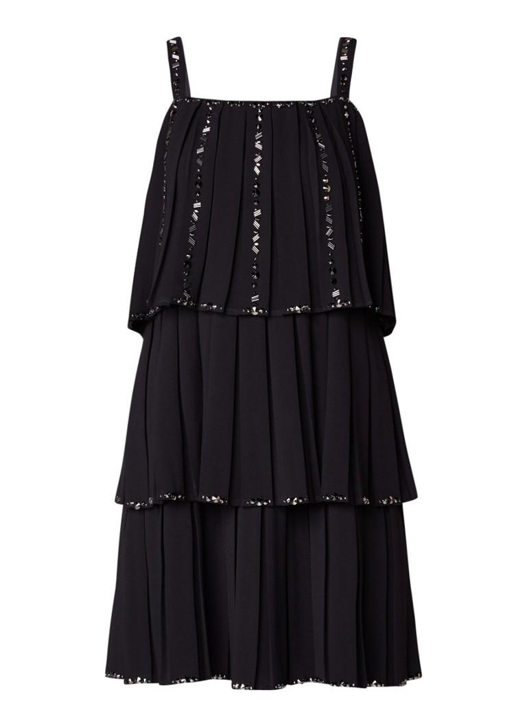 Ted Baker Meltea gelaagde mini-jurk met studs zwart