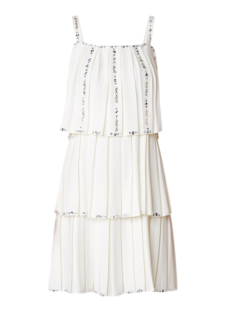 Ted Baker Meltea gelaagde mini-jurk met strass ivoor