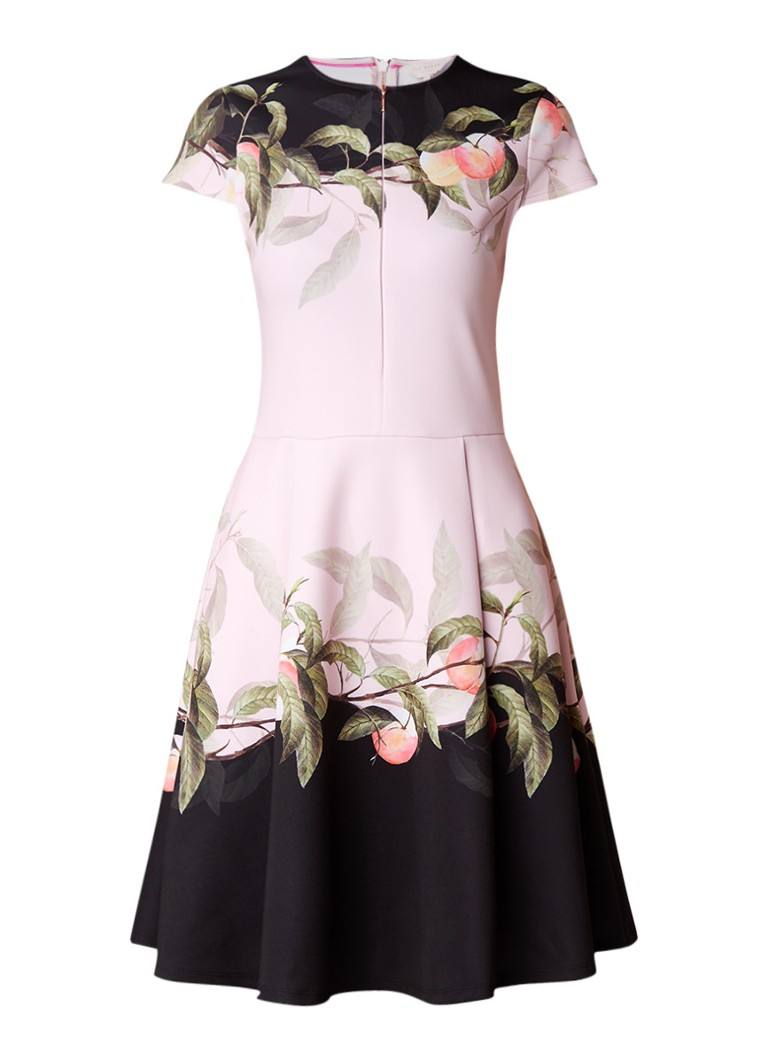 Ted Baker Antana A-lijn jurk met dessin lichtroze