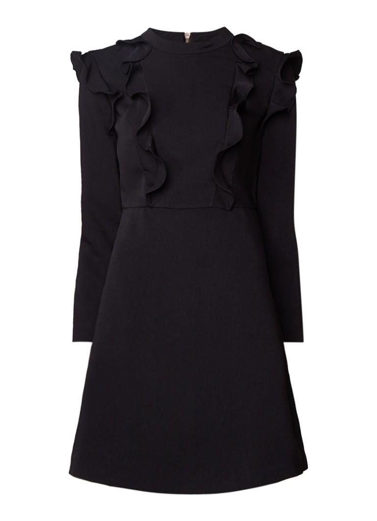 Ted Baker Fashal A-lijn jurk met ruches zwart