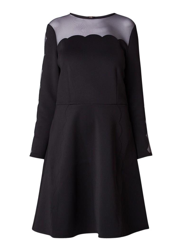 Ted Baker Kikoh A-lijn jurk met inzet van mesh zwart
