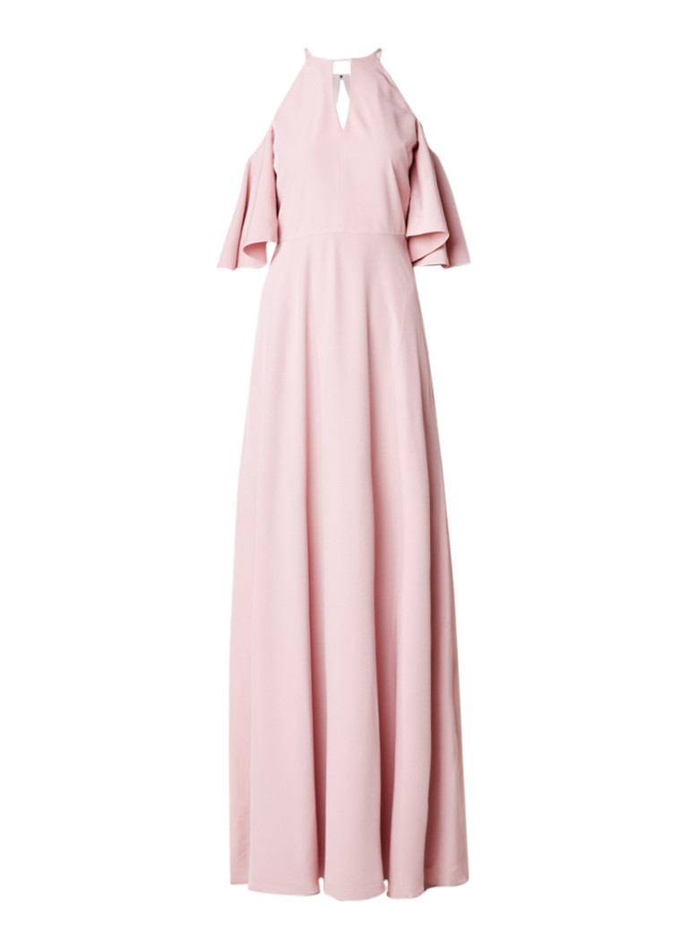 Ted Baker Dulciee Cold shoulder maxi-jurk met cut-out oudroze