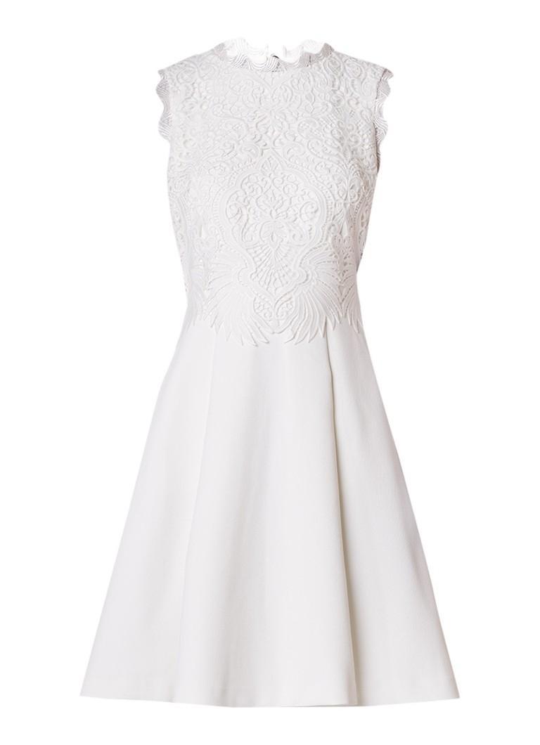 Ted Baker Lexxie A-lijn jurk met overlay van kant wit